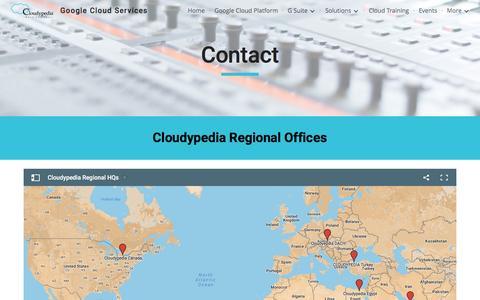 Screenshot of Contact Page google.com - Google Cloud Services - Contact - captured May 18, 2017