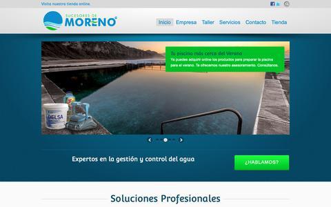 Screenshot of Home Page sucesoresdemoreno.com - Expertos en la gestión y control del agua Sucesores de Moreno - captured Oct. 18, 2018