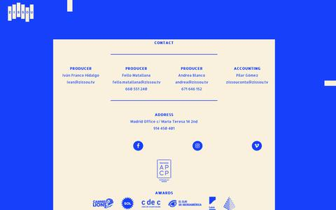 Screenshot of About Page zissou.tv - About us Zissou - Quiénes somos - Compañía Audiovisual de Producción - captured Oct. 20, 2018