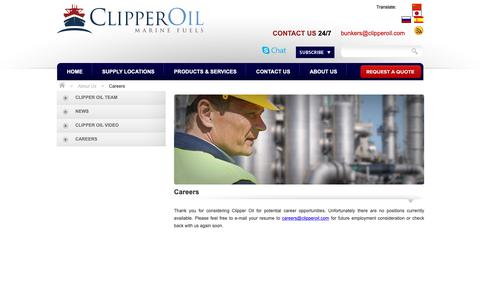 Screenshot of Jobs Page clipperoil.com - Careers - Clipper Oil - captured Nov. 5, 2018