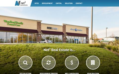 Screenshot of Home Page net3re.com - Net3 Real Estate | Real Estate Company, Real Estate Development | Oak Brook, IL - captured Aug. 12, 2015