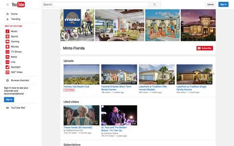 Minto Florida  - YouTube