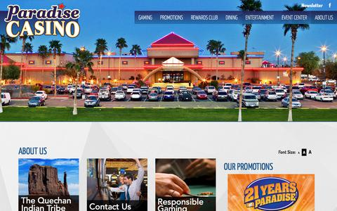 Screenshot of About Page paradise-casinos.com - PARADISE CASINO - captured July 14, 2017