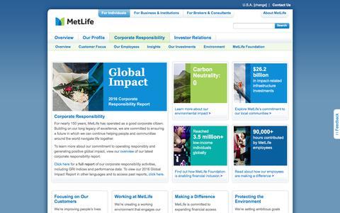 MetLife | Corporate Responsibility