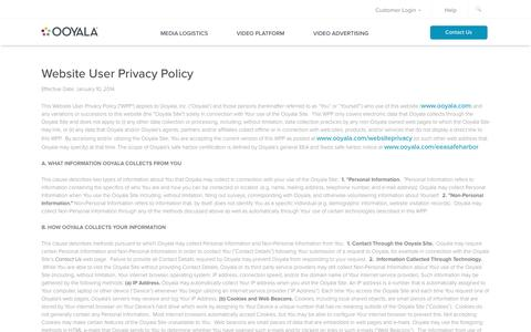 Website User Privacy Policy