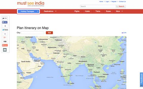 Screenshot of Maps & Directions Page mustseeindia.com - Visual Trip Planner: Plan Your Trip on Map, Plan Itinerary on Map - captured Sept. 16, 2014
