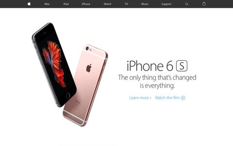 Screenshot of Home Page apple.com - Apple - captured Feb. 4, 2016