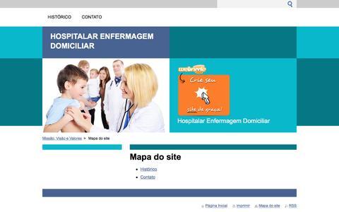 Screenshot of Site Map Page webnode.com - Mapa do site :: Hospitalar Enfermagem Domiciliar - captured Nov. 10, 2016