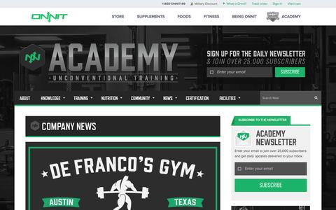 Screenshot of Press Page onnit.com - Company News | Onnit Academy - captured Sept. 18, 2014
