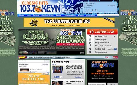 Screenshot of Home Page keyn.com - Homepage - KEYN - 103.7 - captured Jan. 26, 2015