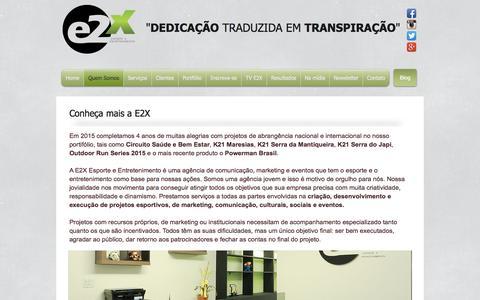 Screenshot of Services Page e2x.com.br - Conheça mais a E2X - captured Oct. 1, 2016