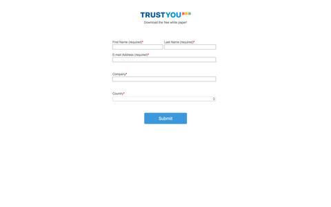 Screenshot of Landing Page trustyou.com - White paper - The Effect of Reviews on Hotel Conversion Rates - captured May 29, 2018