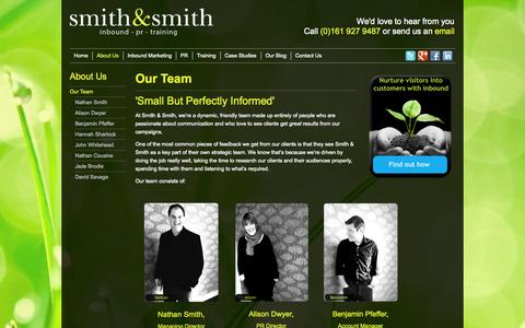 Screenshot of Team Page smithandsmithpr.co.uk - Our Team | Smith & Smith - captured Nov. 5, 2014