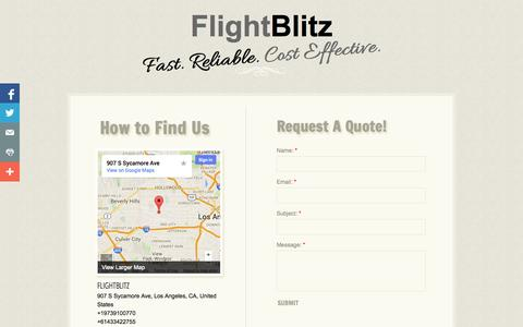 Screenshot of Privacy Page Contact Page flightblitz.com - Contact - captured Oct. 23, 2014