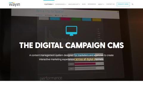 Wayin | The Campaign Experience CMS - Wayin
