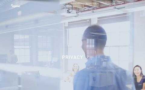 Screenshot of Privacy Page reprisemedia.com - Privacy - Reprise - captured June 17, 2017
