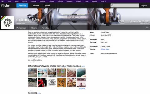 Screenshot of Flickr Page flickr.com - Flickr: OfficineSfera - captured Oct. 27, 2014