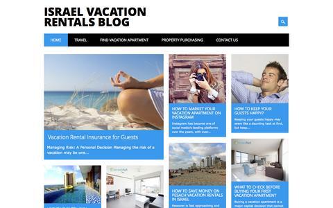 Screenshot of Blog israelapt.com - Israel Vacation Rentals Blog | Israel Vacation Rental Blog - captured Sept. 30, 2014