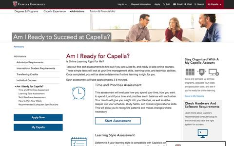 Am I Ready to Succeed at Capella University?