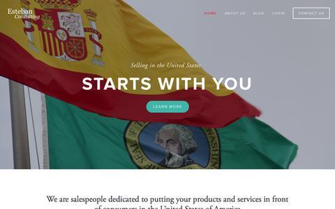 Screenshot of Home Page estebanconsulting.com - Esteban Consulting - captured Sept. 30, 2014