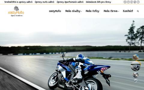 Screenshot of Home Page easymoto.cz - easyMoto | Opravy a úpravy moto oblečení - captured Sept. 12, 2015