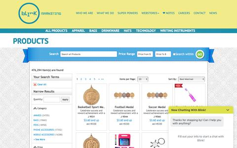 Screenshot of Products Page blinkmarketing.com - Products | Blink Marketing - captured Aug. 2, 2018