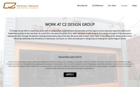 Screenshot of Jobs Page c2-designgroup.com - C2 Design Group | Team - captured May 4, 2017
