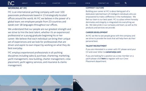 Screenshot of Jobs Page iyc.com - Careers - Working at IYC - captured Oct. 12, 2018