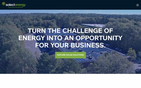Screenshot of Home Page solect.com - Commercial Solar Energy Company | New England | Solect - captured April 17, 2018