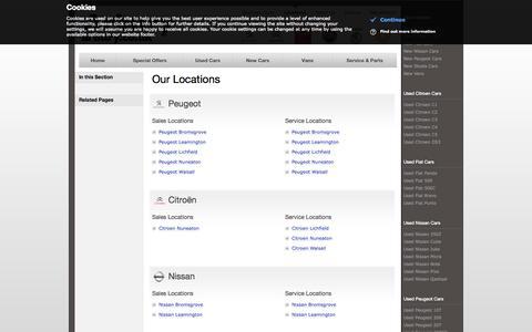Screenshot of Locations Page arbury.co.uk - Arbury - Arbury locations | Bromsgrove | Leamington | Lichfield | Nuneaton | Walsall - captured Oct. 4, 2014