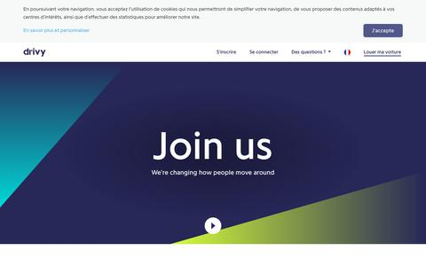 Screenshot of Jobs Page drivy.com - Jobs - Drivy - captured Sept. 28, 2018