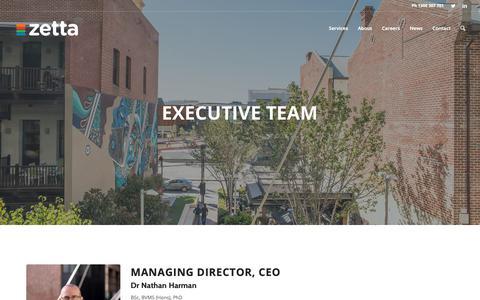 Screenshot of Team Page zetta.com.au - Management Team - Zetta - captured Oct. 20, 2018