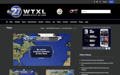 Screenshot of Maps & Directions Page wtxl.com - Maps | wtxl.com - captured Jan. 18, 2016