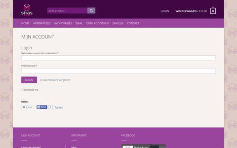 Screenshot of Login Page stras4you.nl - Mijn Account - Stras4You - captured Feb. 26, 2016