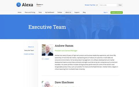 Screenshot of Team Page alexa.com - Alexa Internet - Management - captured Sept. 19, 2014