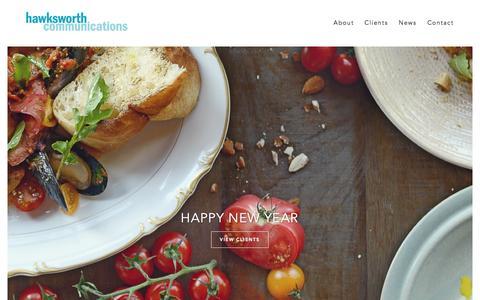 Screenshot of Home Page hawksworth.ca - Home | Hawksworth Communications - captured Jan. 23, 2015