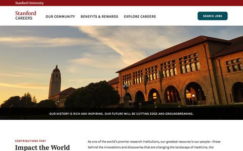 Screenshot of Jobs Page stanford.edu - Home | Stanford Careers - captured Sept. 21, 2017