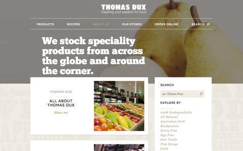 Screenshot of About Page thomasdux.com.au - About Us | Thomas Dux - captured Oct. 7, 2014