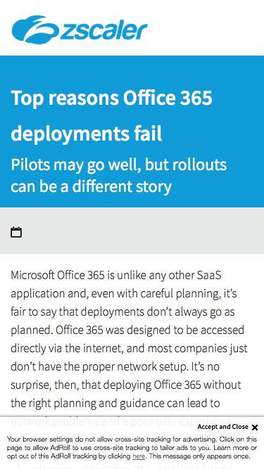 Top reasons Office 365 deployment Fail