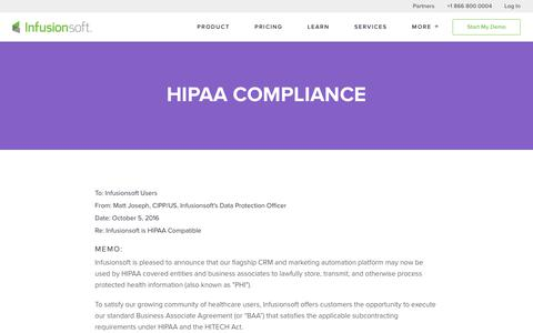 Infusionsoft and HIPAA Compliance