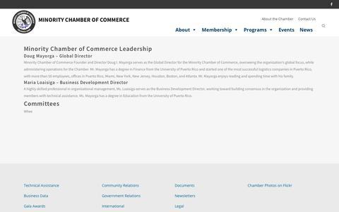 Screenshot of Team Page minoritychamber.net - Leadership - Minority Chamber of Commerce - captured Oct. 19, 2017