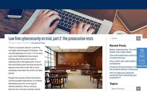 Law firm cybersecurity on trial, part 2: The prosecution rests