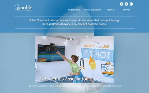 Screenshot of Home Page noble.net - Noble Communications - captured June 14, 2017