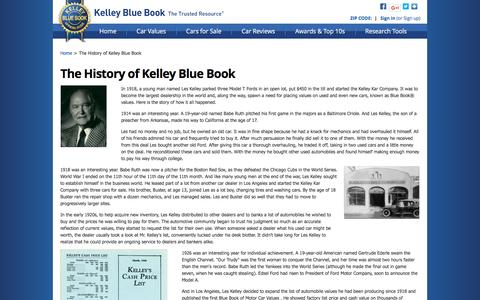 Screenshot of About Page kbb.com - About Us - The History of Kelley Blue Book - captured Oct. 20, 2016