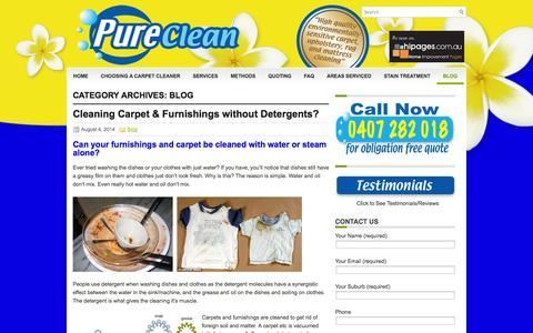 Screenshot of Blog pureclean.com.au - Blog | Carpet Cleaning St George Sutherland Shire - captured Oct. 1, 2014