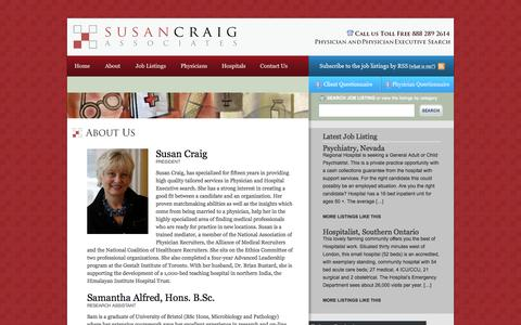 Screenshot of About Page susancraig.com - Susan Craig  About Us - Susan Craig - captured Oct. 7, 2014