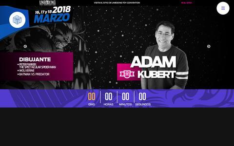 Screenshot of Home Page lamole.com.mx - La Mole Comic Con Internacional - captured April 26, 2018