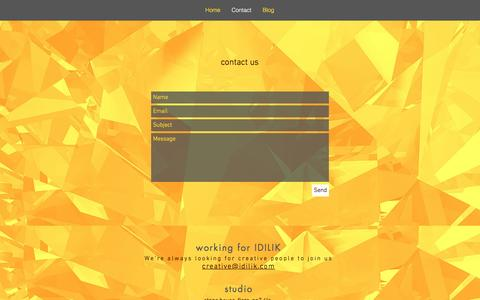 Screenshot of Contact Page idilik.com - Contact IDILIK creative design and marketing - captured Nov. 18, 2016