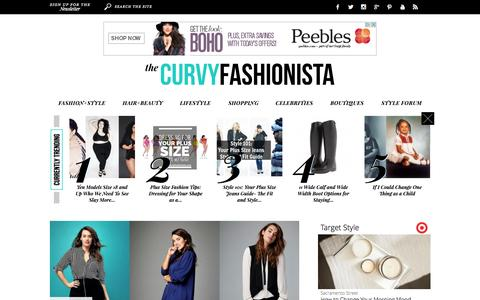 Screenshot of Home Page thecurvyfashionista.com - The Curvy Fashionista - captured Oct. 6, 2015