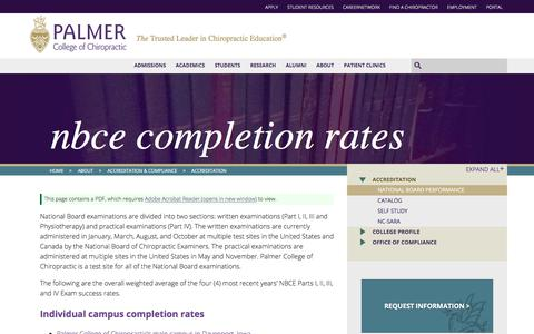 NBCE Completion Rates